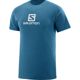 Salomon Coton Logo Miehet Lyhythihainen paita , sininen